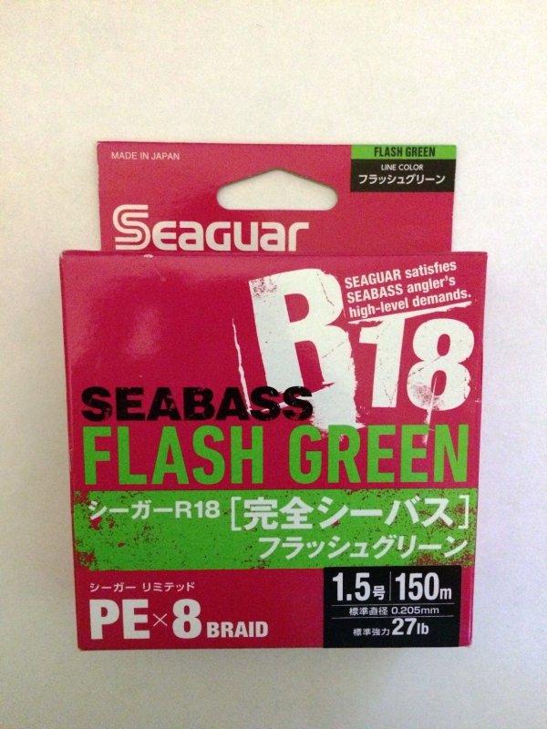 Kureha Seaguar R18 SeaBass X8 PE 150м 1.5 green.JPG