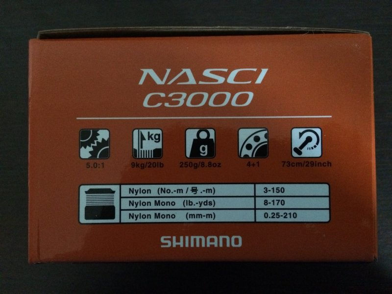 Shimano 16 Nasci C3000 - 2.JPG