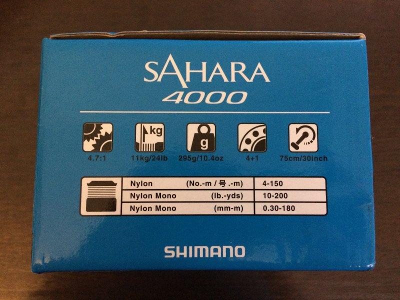 Shimano 17 Sahara 4000 - 2.JPG